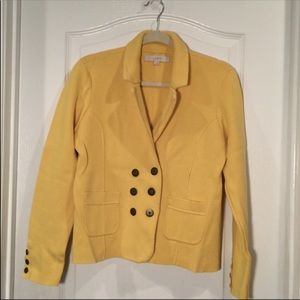 LOFT knit sweater blazer - sunshine yellow Size L